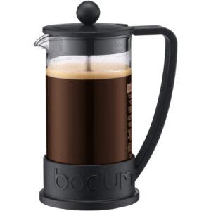 BODUM Brazil 3 Cup French Press Coffee Maker, Black, 0.35 l, 12 oz