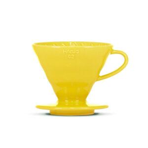 Hario V60 Ceramic Belfast Yellow Dripper size 2