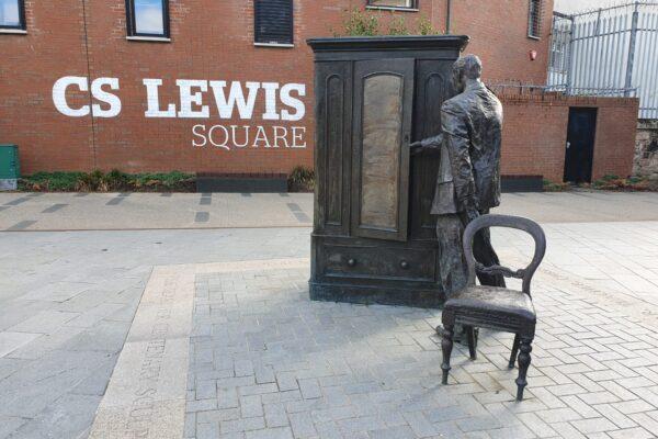 CS Lewis Square statue