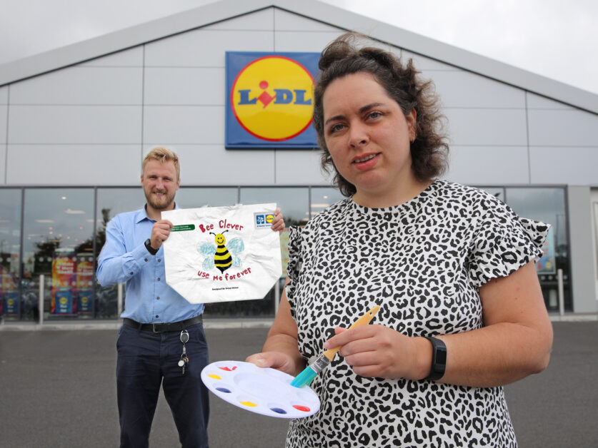 Lidl Dundonald Customer Bags Top Prize in Sustainability Colouring Competition