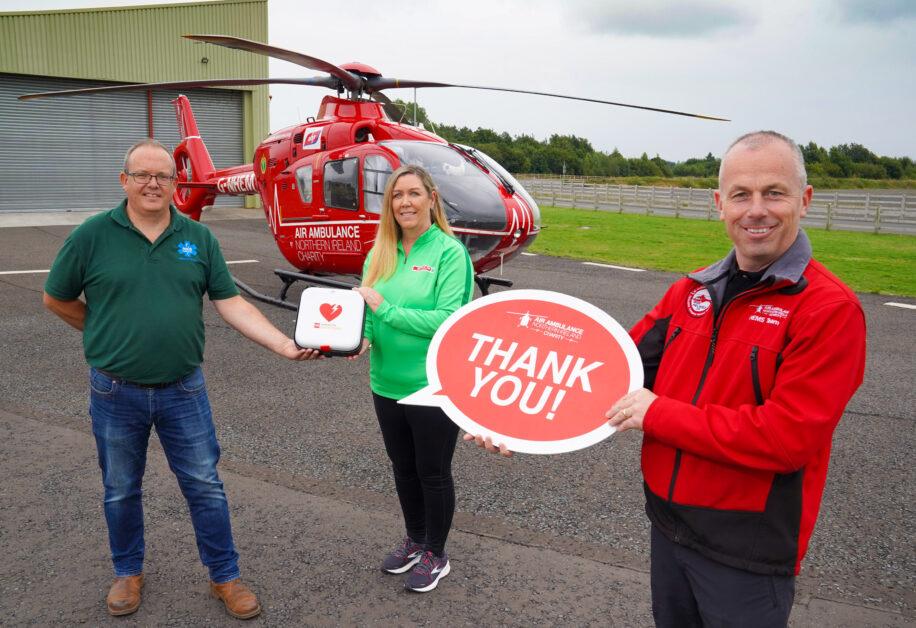 Henderson defib donation to Air Ambulance 2